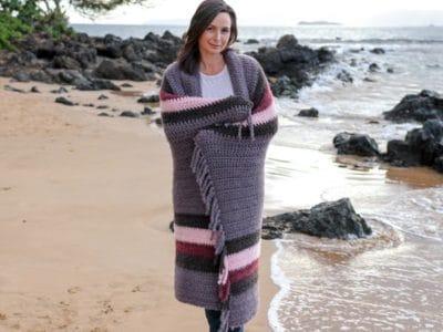 crochet Winter Swell Blanket free pattern