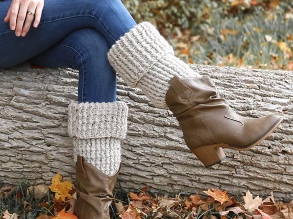 Beginner Crochet Leg Warmers free pattern