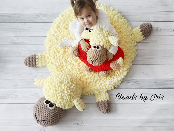 CROCHET Plush Baby Rug easy pattern