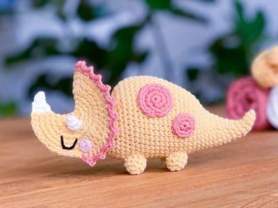 Crochet triceratops dinosaur free pattern