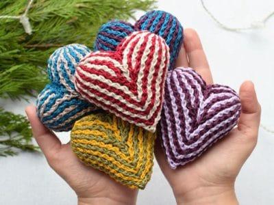 crochet Brioche Heart free pattern