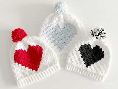 crochet C2C Heart Pillow free pattern