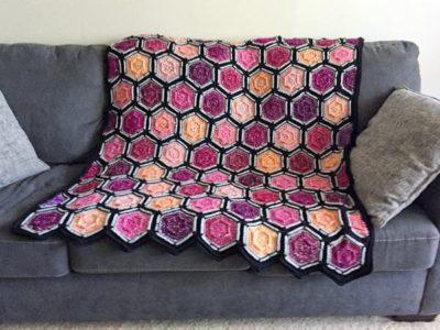 crochet Dusk to Dawn Afghan free pattern