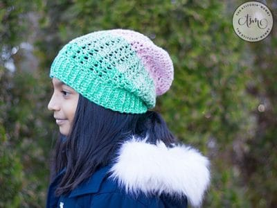 crochet Equilibrium Slouch Hat free pattern