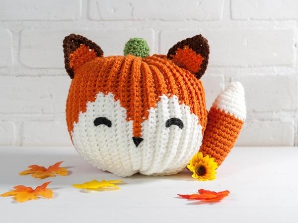 crochet Fox Pumpkin free pattern