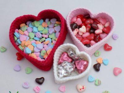 crochet Heart Nesting Baskets easy pattern