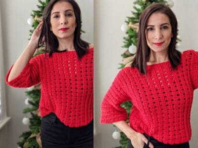 crochet Paint The Town Sweater free pattern