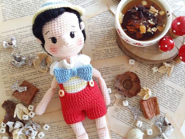 crochet Pinocchio Amigurumi free pattern