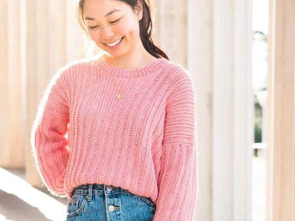 crochet RIBBED CROCHET SWEATER free pattern
