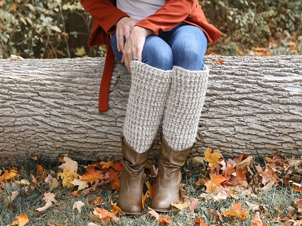 crochet Ribbed Leg Warmers free pattern