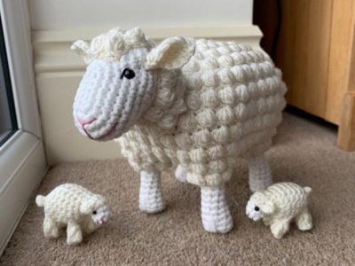 crochet Sheep With Lambs easy pattern