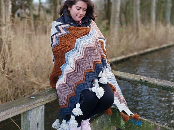 crochet Sofia blanket free pattern