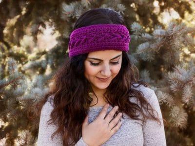 crochet The Slopes Headband free pattern