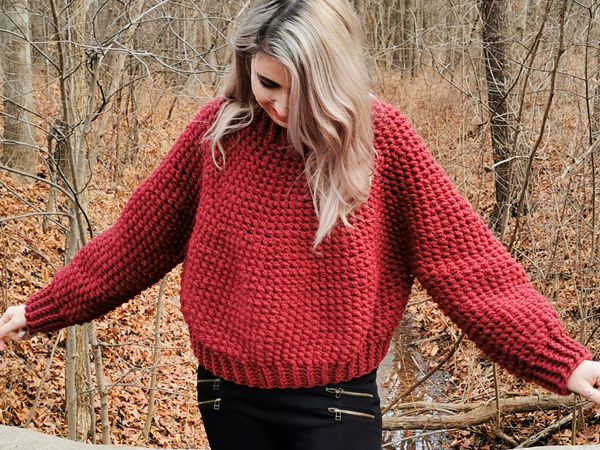 crochet Tolorraine Sweater free pattern