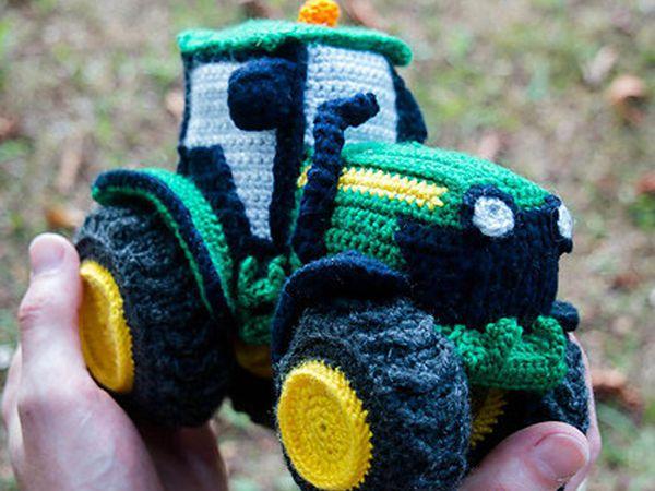 crochet Toota Tractor easy pattern