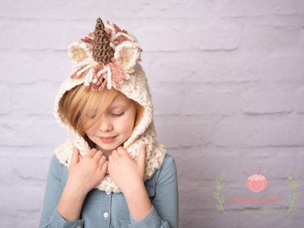 crochet Unicorn Cowl easy pattern