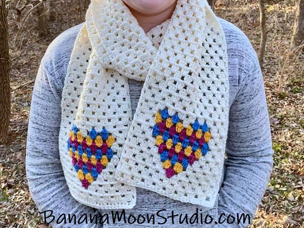 crochet Heartbeat Scarf free patterns