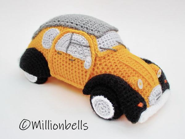 crochet 2CV Inspired French Classic Car free pattern