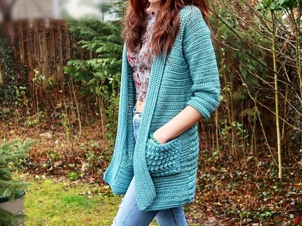 crochet BRAIDED NAUTICAL CARDIGAN free pattern