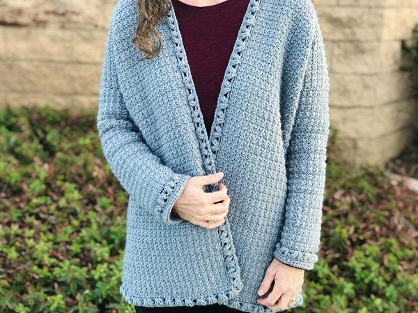 crochet Becky Cardigan free pattern