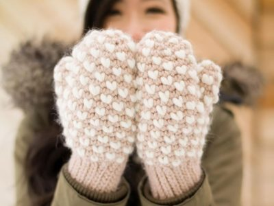 crochet Bulky Thrummed Mittens free pattern