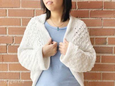 crochet C2C Cocoon Shrug free pattern