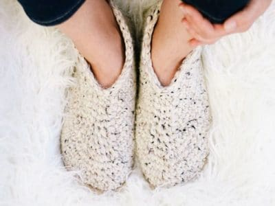 crochet Chukka Slippers on Flip Flop Soles free pattern