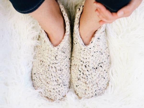 crochet Chukka Slippers on Flip Flop Soles free pattern