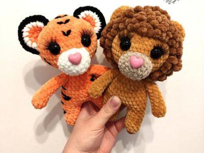crochet Cute small amigurumi Lion free pattern