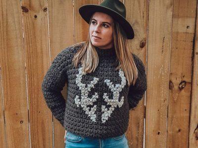 crochet Deer Park Pullover easy pattern