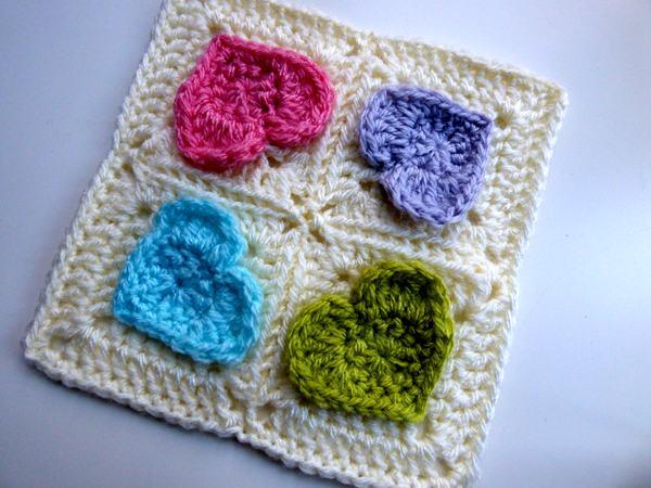 crochet Grannys Valentine free pattern