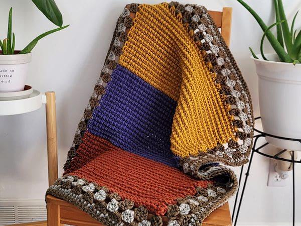 crochet Huckleberry Baby Blanket free pattern