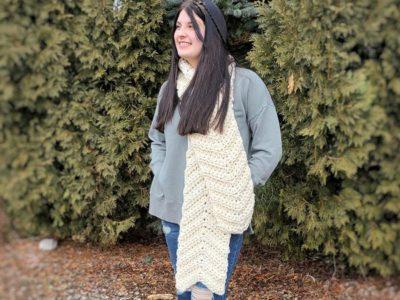 crochet Josie Chevron Scarf free pattern