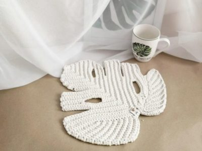 crochet Leaf Monstera Boho Decor easy pattern
