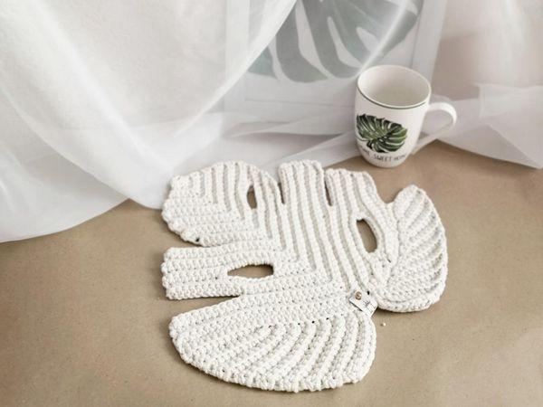 crochet Leaf Monstera Boho Decor easy pattern