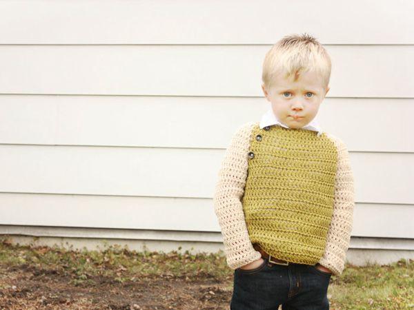 crochet Olive Sweater easy pattern