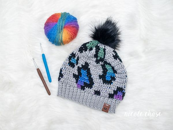 crochet Simply Wild Beanie free pattern