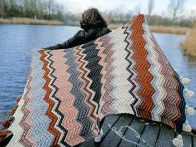 crochet Sofia Chevron Blanket free pattern