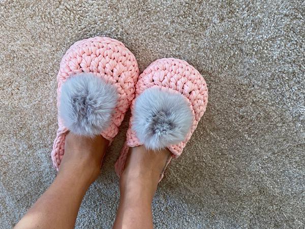 crochet Soft Home Slippers easy pattern