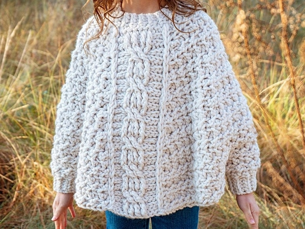 crochet Starlette Cable Poncho easy pattern