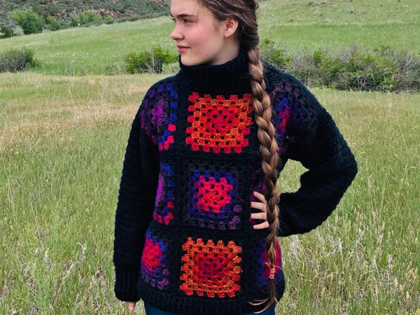 crochet The Campfire Sweater free pattern
