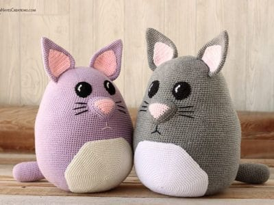 crochet Weighted Snuggle Cat free pattern