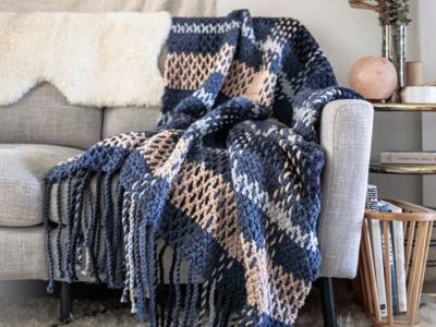 crochet Wildwood Plaid Blanket free pattern