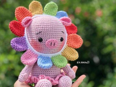 CROCHET Hana our Babi Piggy easy pattern