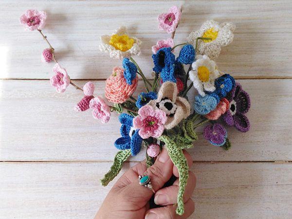 Crochet Spring Flowers free pattern