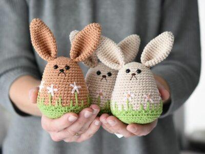 crochet Amigurumi spring bunny free pattern