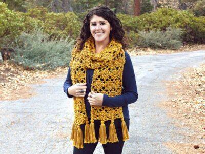 crochet Aspen Scarf free pattern