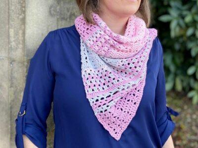 crochet Blossom Shawl free pattern