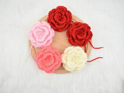 crochet Camellia flower free pattern