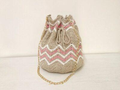 crochet Chevron Bucket Bag free pattern